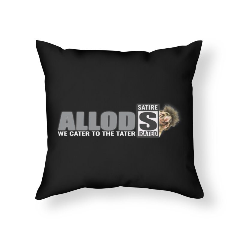 ALLOD The Logo Featuring Busta Troll Home Throw Pillow by America's Last Line of Defense