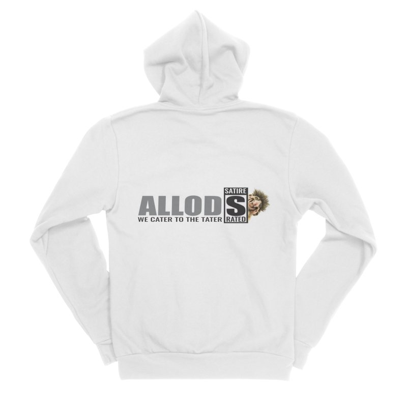 ALLOD Logo Dark Cater Men's Sponge Fleece Zip-Up Hoody by America's Last Line of Defense
