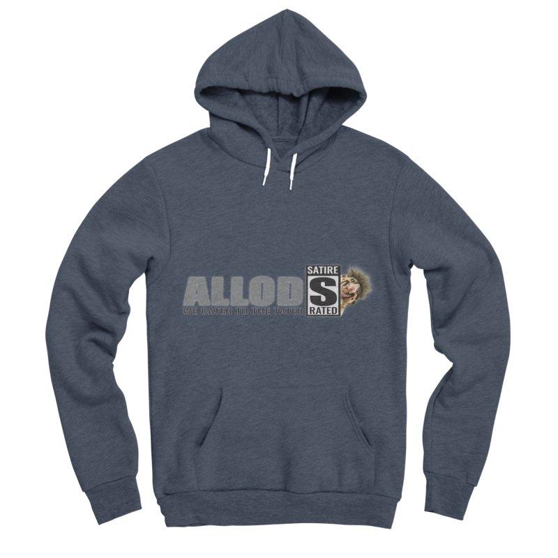 ALLOD Logo Dark Cater Men's Sponge Fleece Pullover Hoody by America's Last Line of Defense