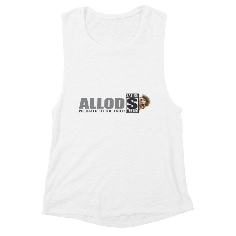 ALLOD Logo Dark Cater Women's Muscle Tank by America's Last Line of Defense