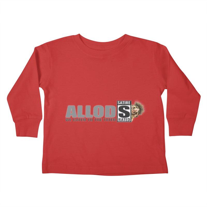 ALLOD Logo Dark Cater Kids Toddler Longsleeve T-Shirt by America's Last Line of Defense