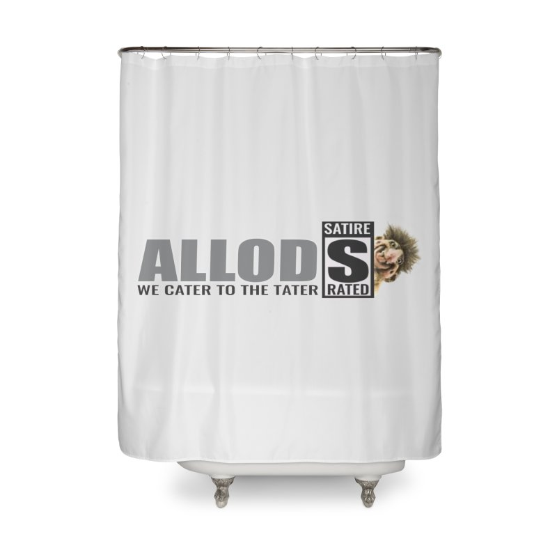 ALLOD Logo Dark Cater Home Shower Curtain by America's Last Line of Defense