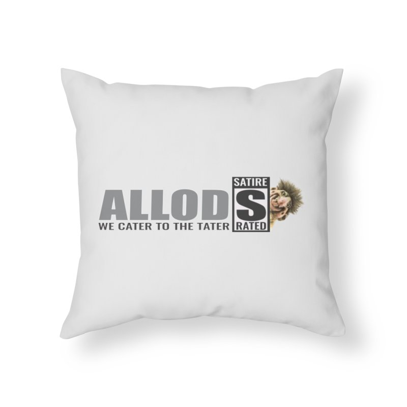 ALLOD Logo Dark Cater Home Throw Pillow by America's Last Line of Defense