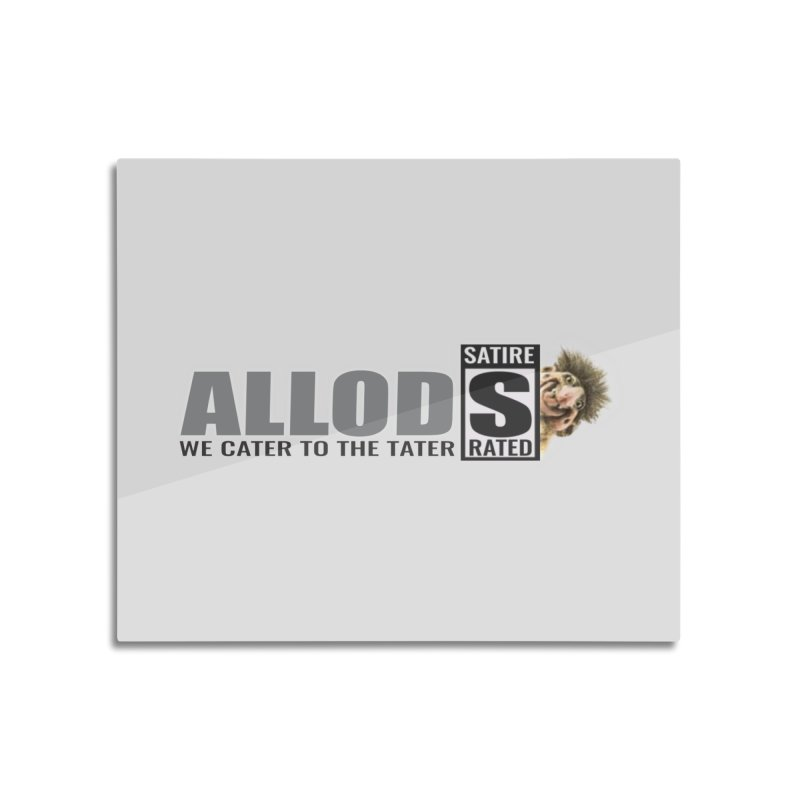 ALLOD Logo Dark Cater Home Mounted Aluminum Print by America's Last Line of Defense