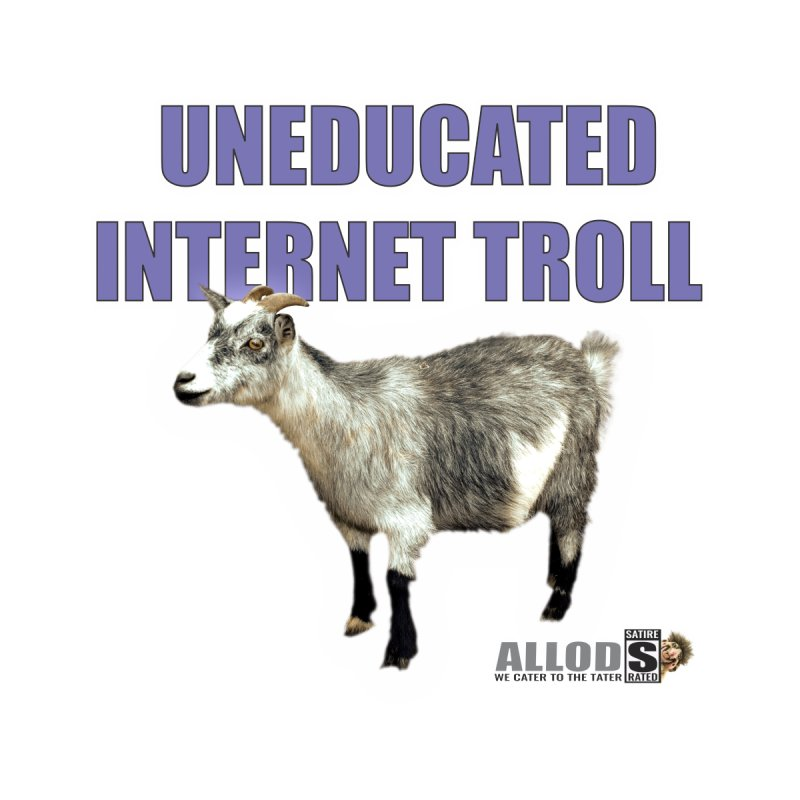 Uneducated Internet Troll Men's V-Neck by America's Last Line of Defense
