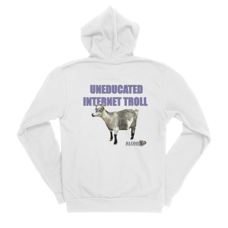 Uneducated Internet Troll Men's Sponge Fleece Zip-Up Hoody by America's Last Line of Defense