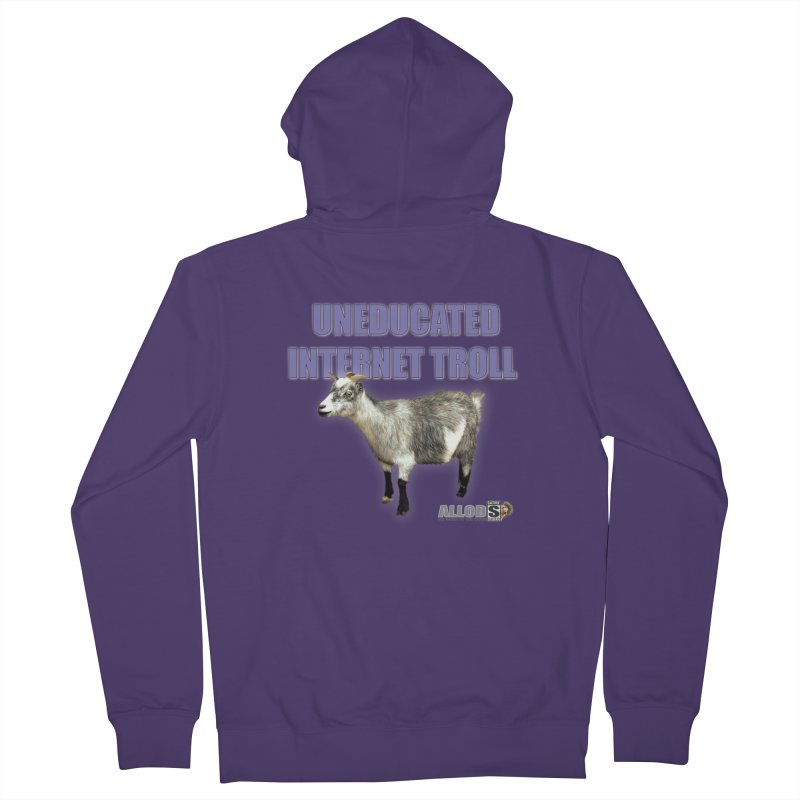Uneducated Internet Troll Women's French Terry Zip-Up Hoody by America's Last Line of Defense