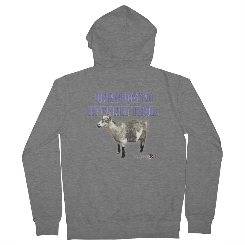 Uneducated Internet Troll Men's French Terry Zip-Up Hoody by America's Last Line of Defense
