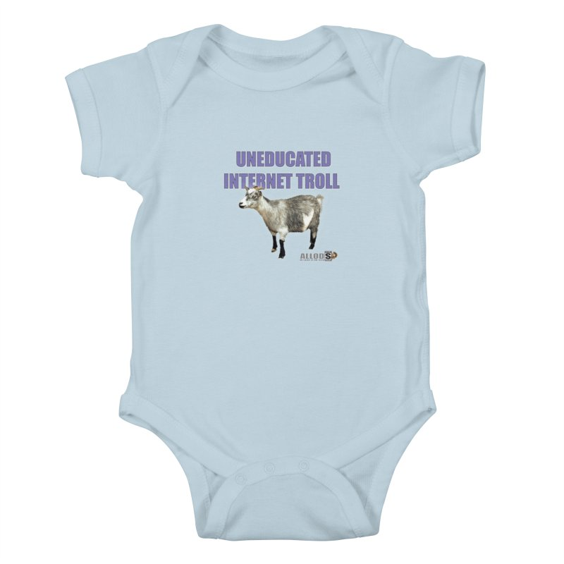 Uneducated Internet Troll Kids Baby Bodysuit by America's Last Line of Defense