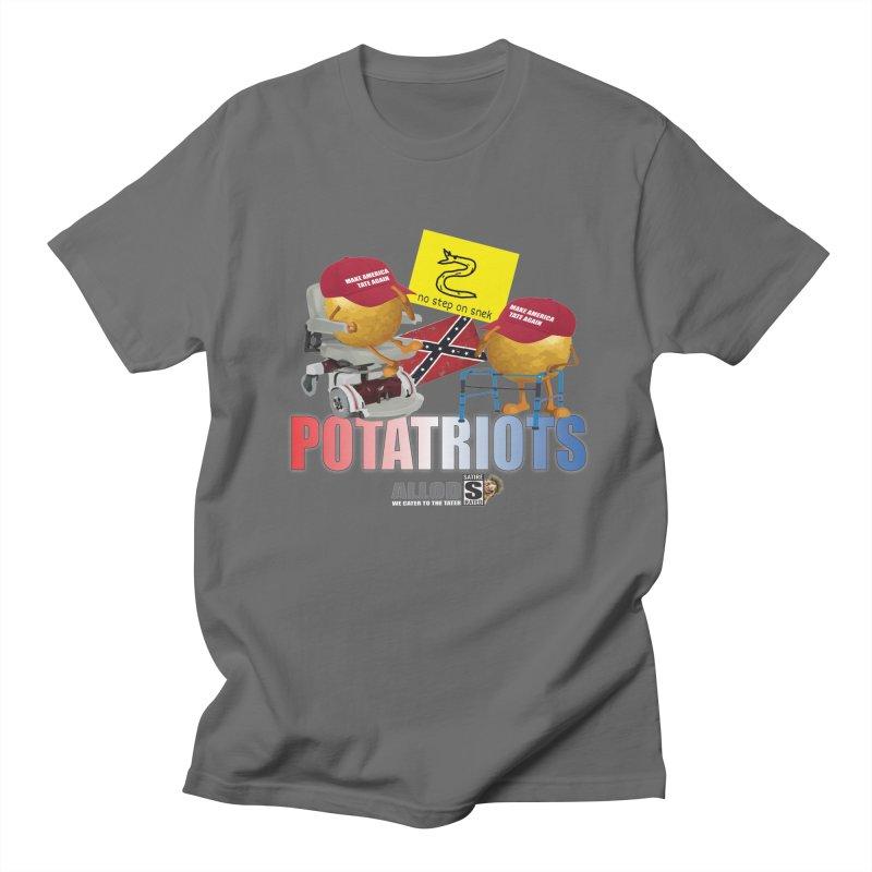 POTATRIOT SALUTE! Men's T-Shirt by America's Last Line of Defense