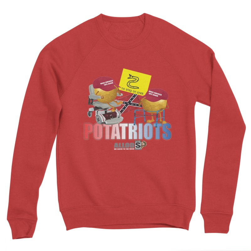 POTATRIOT SALUTE! Men's Sponge Fleece Sweatshirt by America's Last Line of Defense