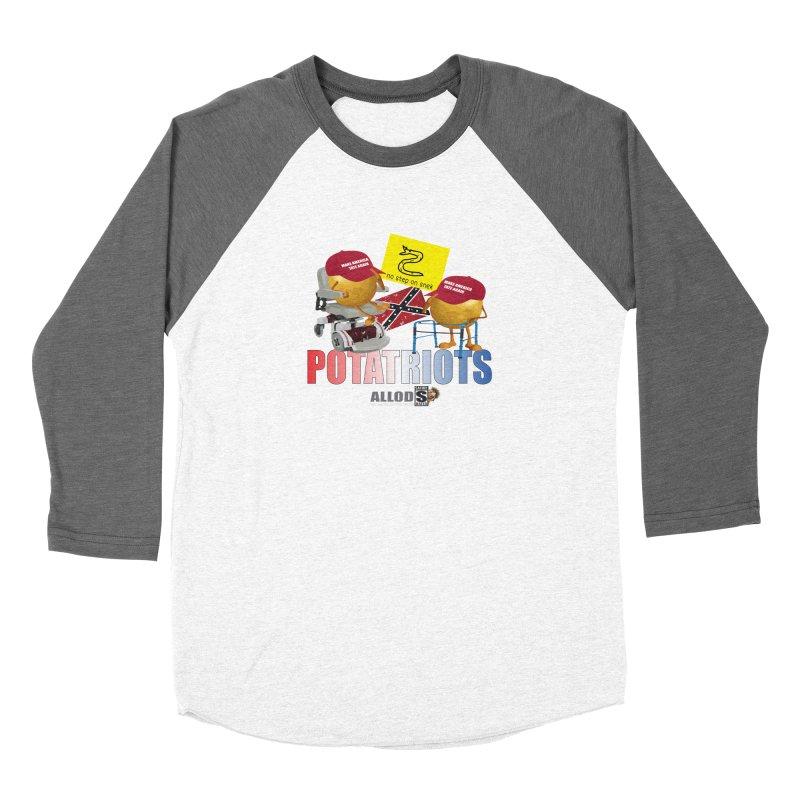 POTATRIOT SALUTE! Women's Longsleeve T-Shirt by America's Last Line of Defense