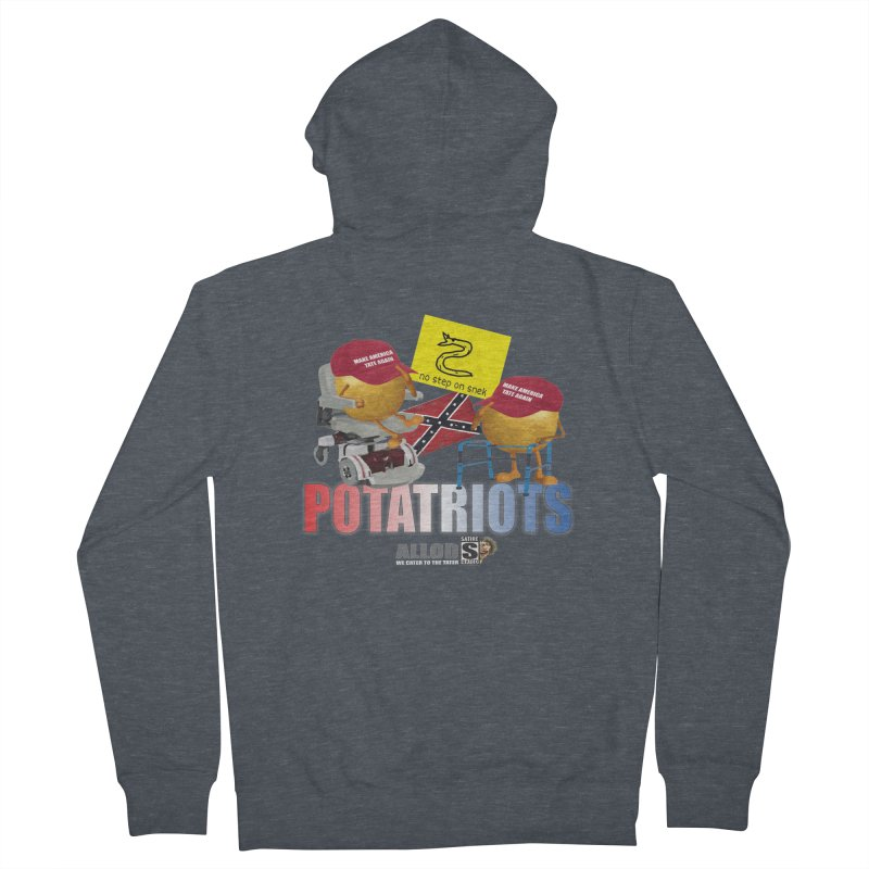 POTATRIOT SALUTE! Women's French Terry Zip-Up Hoody by America's Last Line of Defense