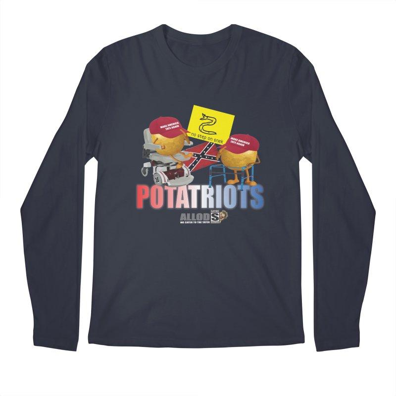 POTATRIOT SALUTE! Men's Regular Longsleeve T-Shirt by America's Last Line of Defense