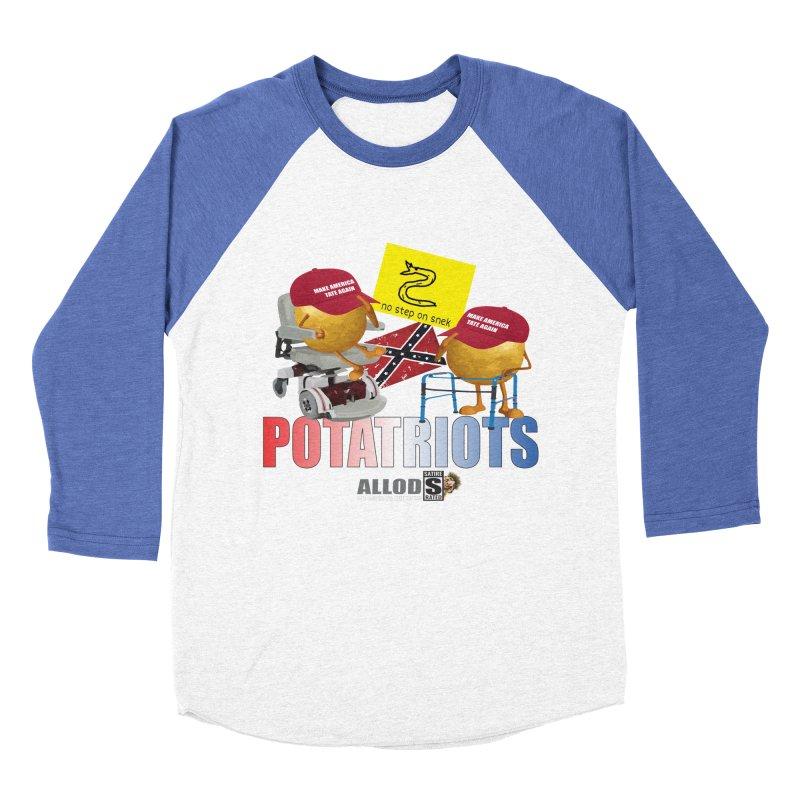 POTATRIOT SALUTE! Men's Baseball Triblend Longsleeve T-Shirt by America's Last Line of Defense