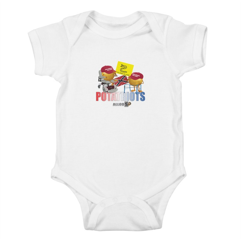 POTATRIOT SALUTE! Kids Baby Bodysuit by America's Last Line of Defense
