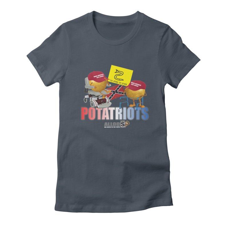 POTATRIOT SALUTE! Women's T-Shirt by America's Last Line of Defense