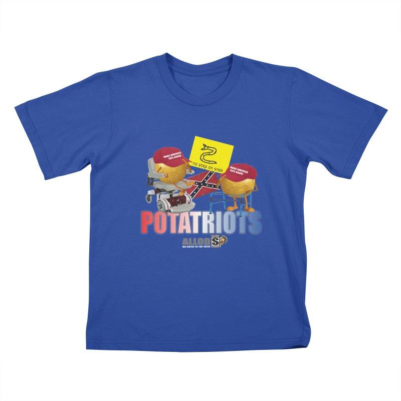 POTATRIOT SALUTE! Kids T-Shirt by America's Last Line of Defense