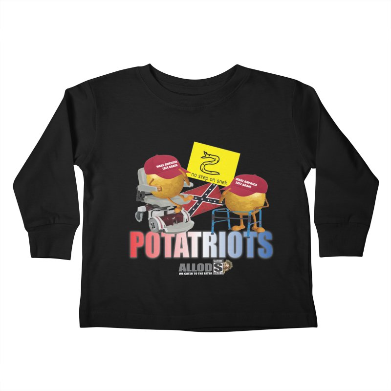 POTATRIOT SALUTE! Kids Toddler Longsleeve T-Shirt by America's Last Line of Defense