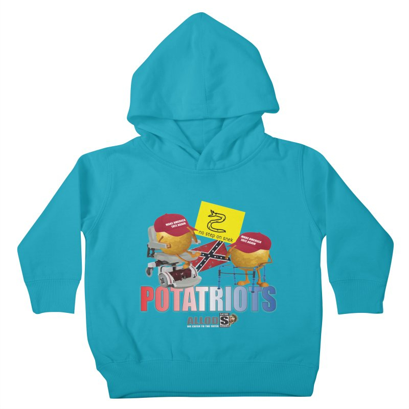POTATRIOT SALUTE! Kids Toddler Pullover Hoody by America's Last Line of Defense