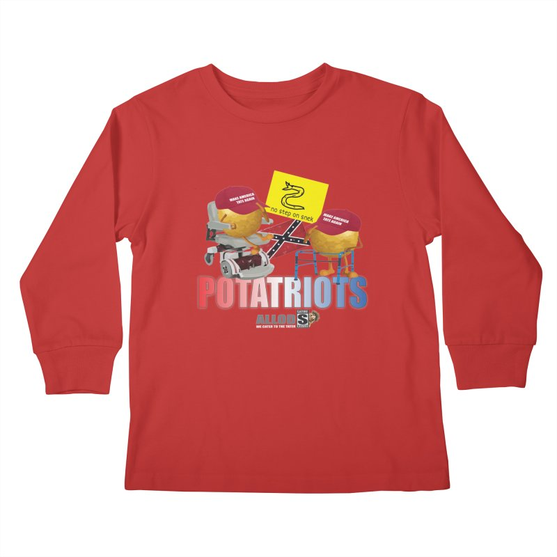 POTATRIOT SALUTE! Kids Longsleeve T-Shirt by America's Last Line of Defense