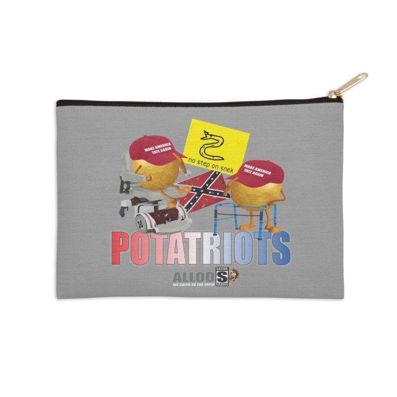 POTATRIOT SALUTE! Accessories Zip Pouch by America's Last Line of Defense