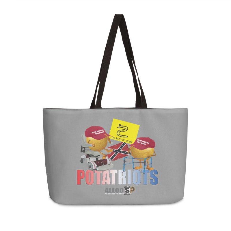 POTATRIOT SALUTE! Accessories Weekender Bag Bag by America's Last Line of Defense