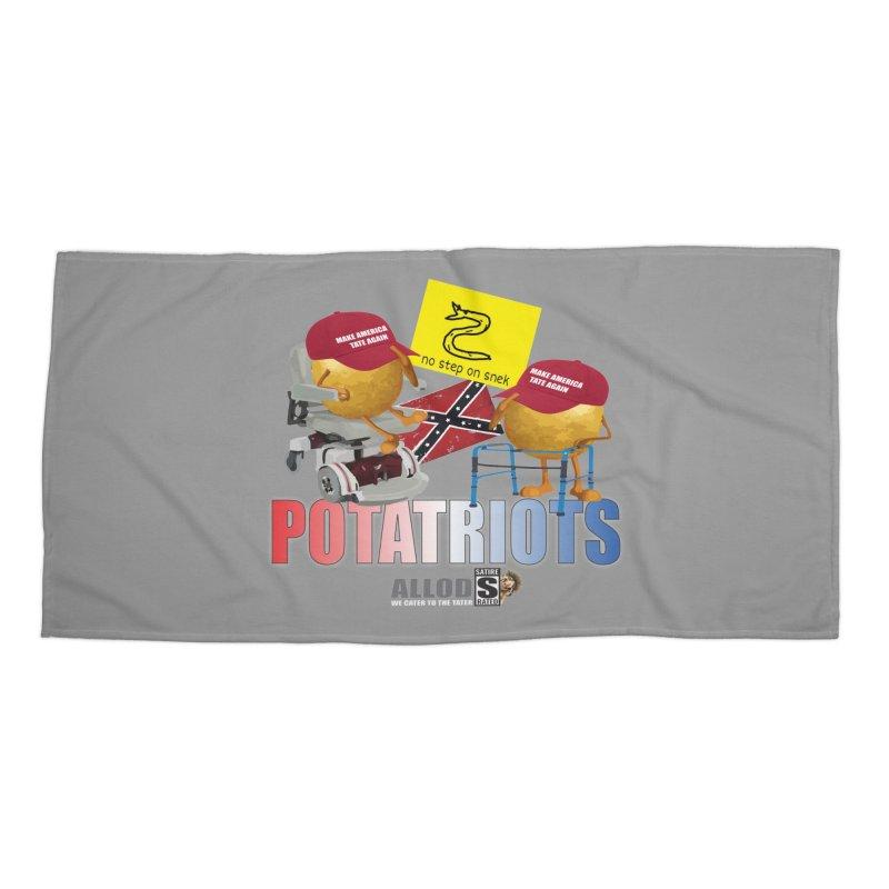 POTATRIOT SALUTE! Accessories Beach Towel by America's Last Line of Defense