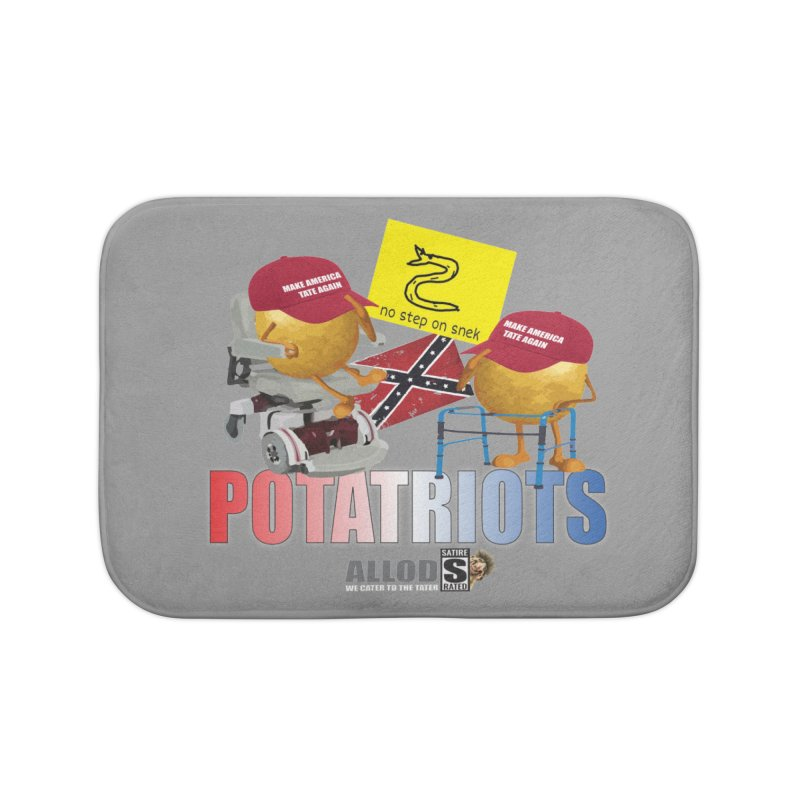 POTATRIOT SALUTE! Home Bath Mat by America's Last Line of Defense