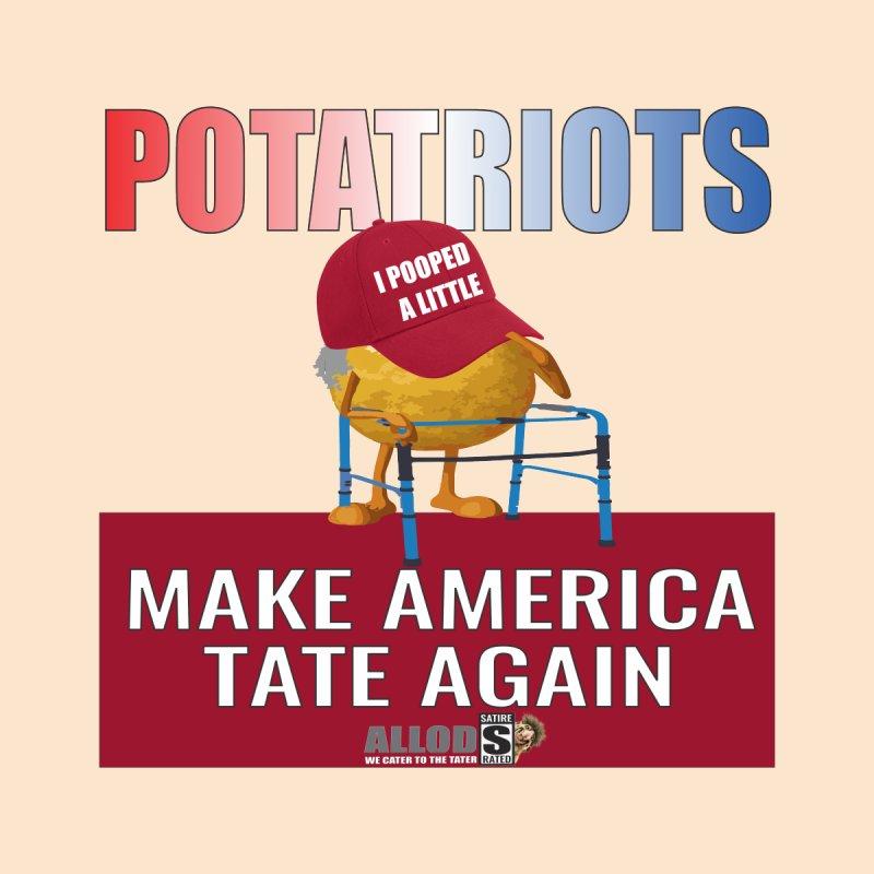 Poor Poopy Potatriot Women's V-Neck by America's Last Line of Defense