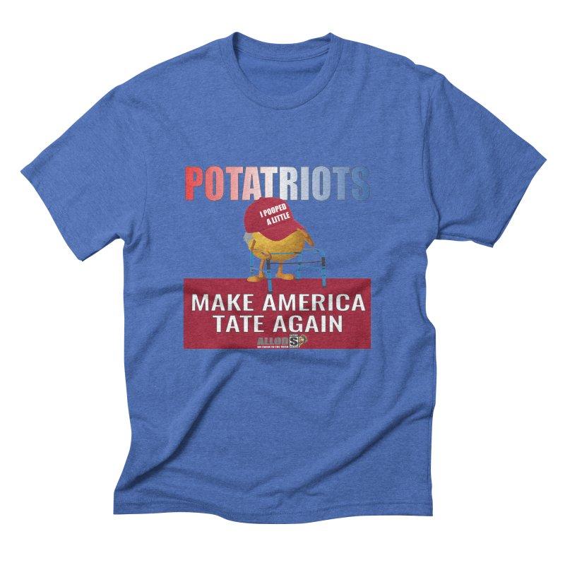 Poor Poopy Potatriot Men's T-Shirt by America's Last Line of Defense