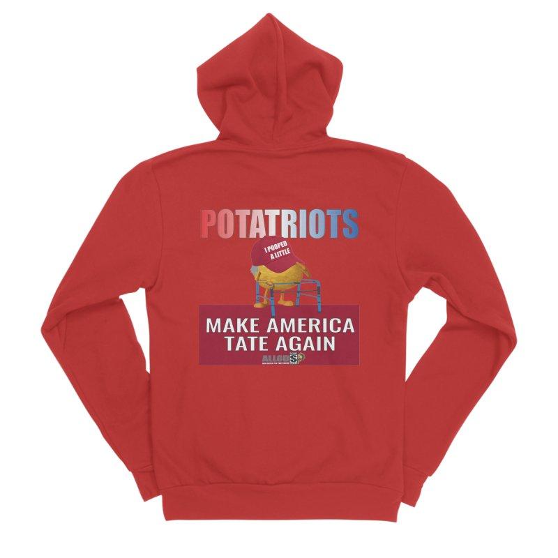 Poor Poopy Potatriot Men's Zip-Up Hoody by America's Last Line of Defense