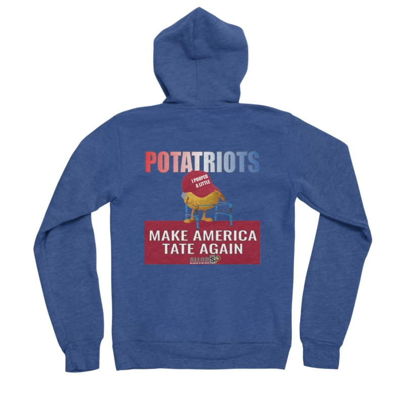 Poor Poopy Potatriot Men's Sponge Fleece Zip-Up Hoody by America's Last Line of Defense