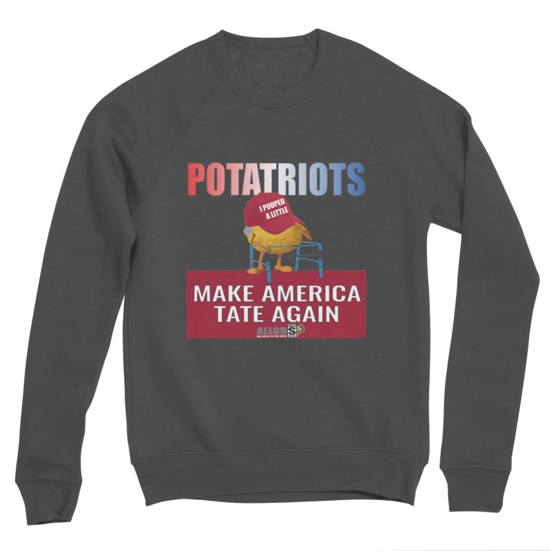 Poor Poopy Potatriot Men's Sponge Fleece Sweatshirt by America's Last Line of Defense