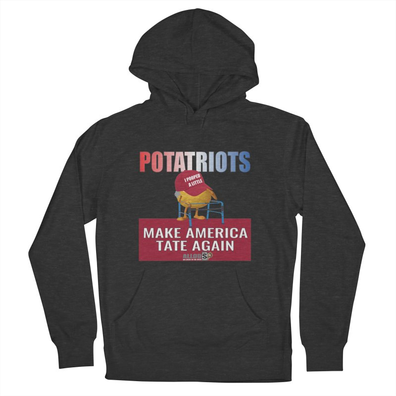 Poor Poopy Potatriot Women's French Terry Pullover Hoody by America's Last Line of Defense