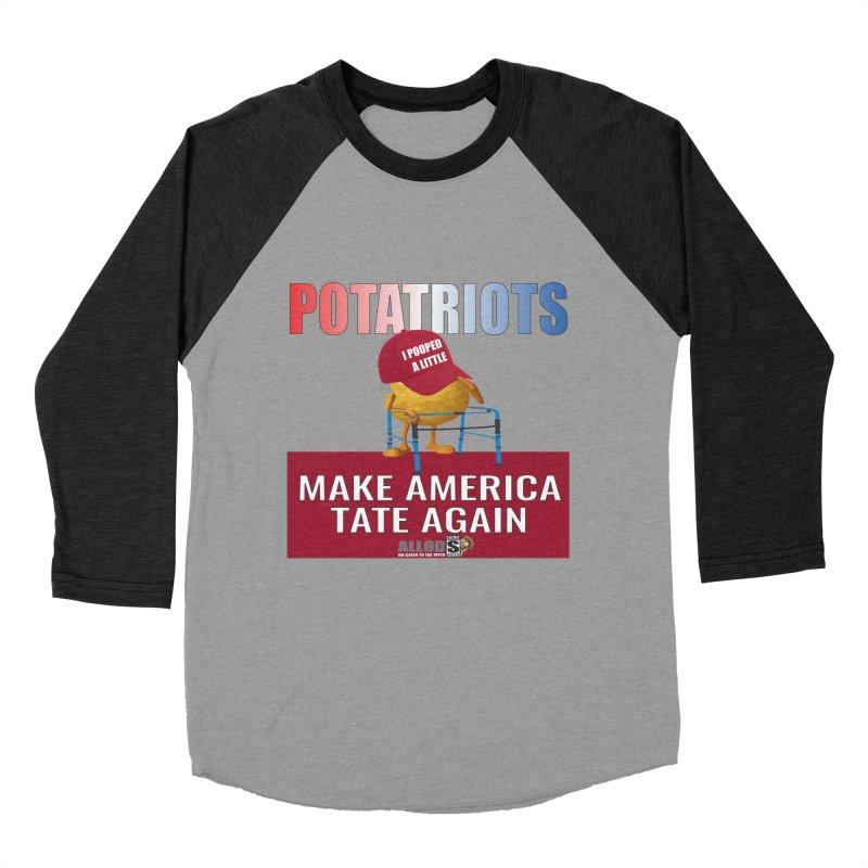 Poor Poopy Potatriot Women's Baseball Triblend Longsleeve T-Shirt by America's Last Line of Defense