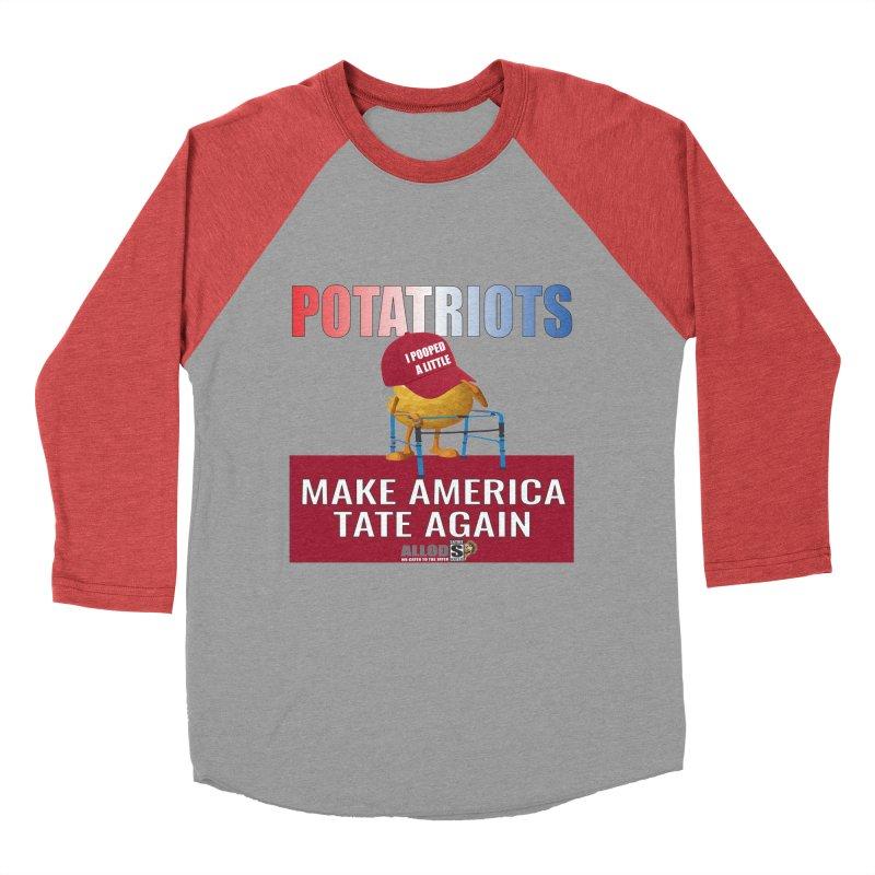 Poor Poopy Potatriot Men's Baseball Triblend Longsleeve T-Shirt by America's Last Line of Defense