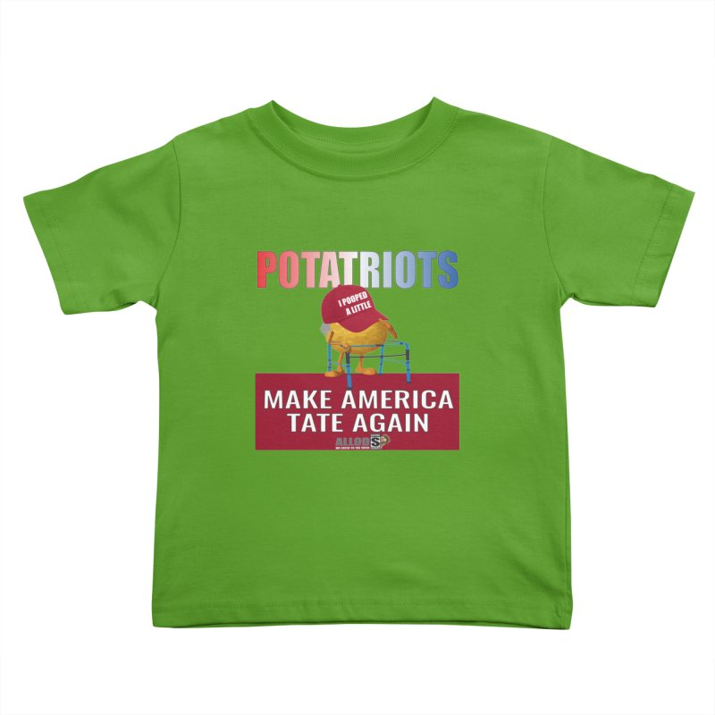 Poor Poopy Potatriot Kids Toddler T-Shirt by America's Last Line of Defense