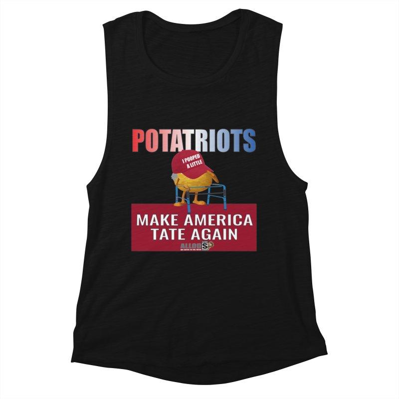 Poor Poopy Potatriot Women's Muscle Tank by America's Last Line of Defense