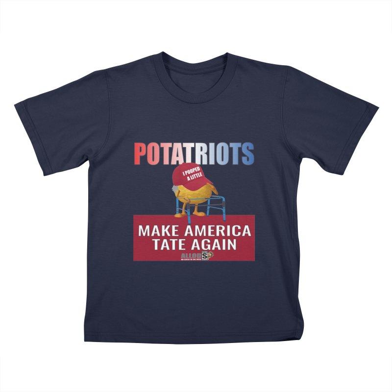 Poor Poopy Potatriot Kids T-Shirt by America's Last Line of Defense