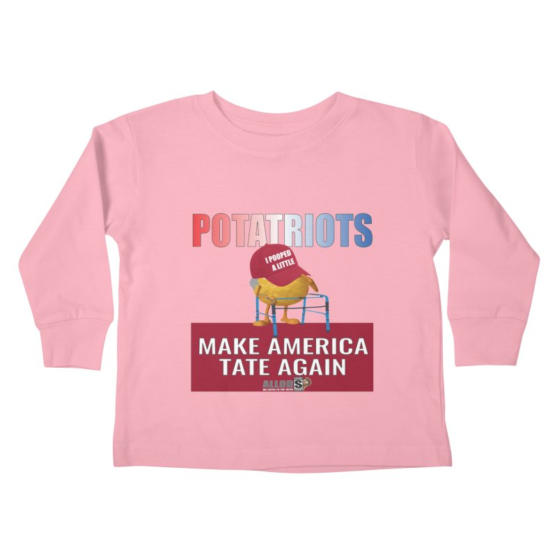 Poor Poopy Potatriot Kids Toddler Longsleeve T-Shirt by America's Last Line of Defense