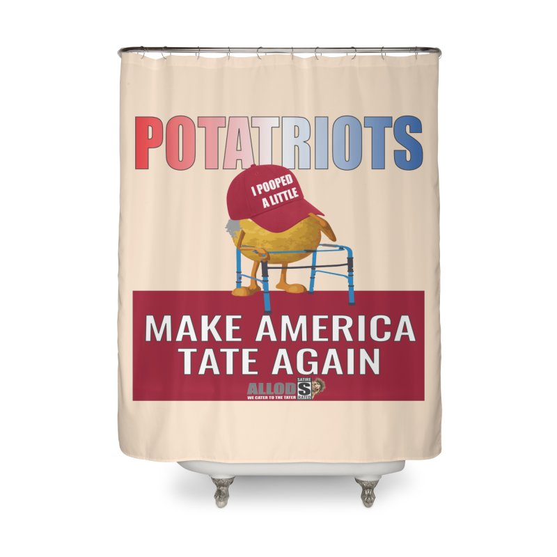 Poor Poopy Potatriot Home Shower Curtain by America's Last Line of Defense
