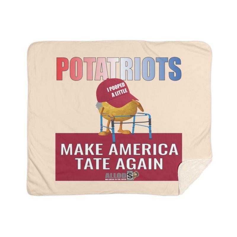 Poor Poopy Potatriot Home Blanket by America's Last Line of Defense