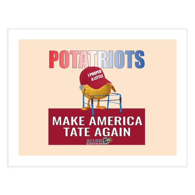 Poor Poopy Potatriot Home Fine Art Print by America's Last Line of Defense