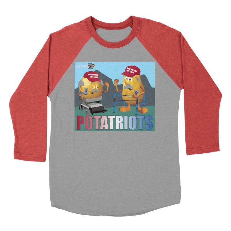 Geriatric Potatriots Women's Baseball Triblend Longsleeve T-Shirt by America's Last Line of Defense