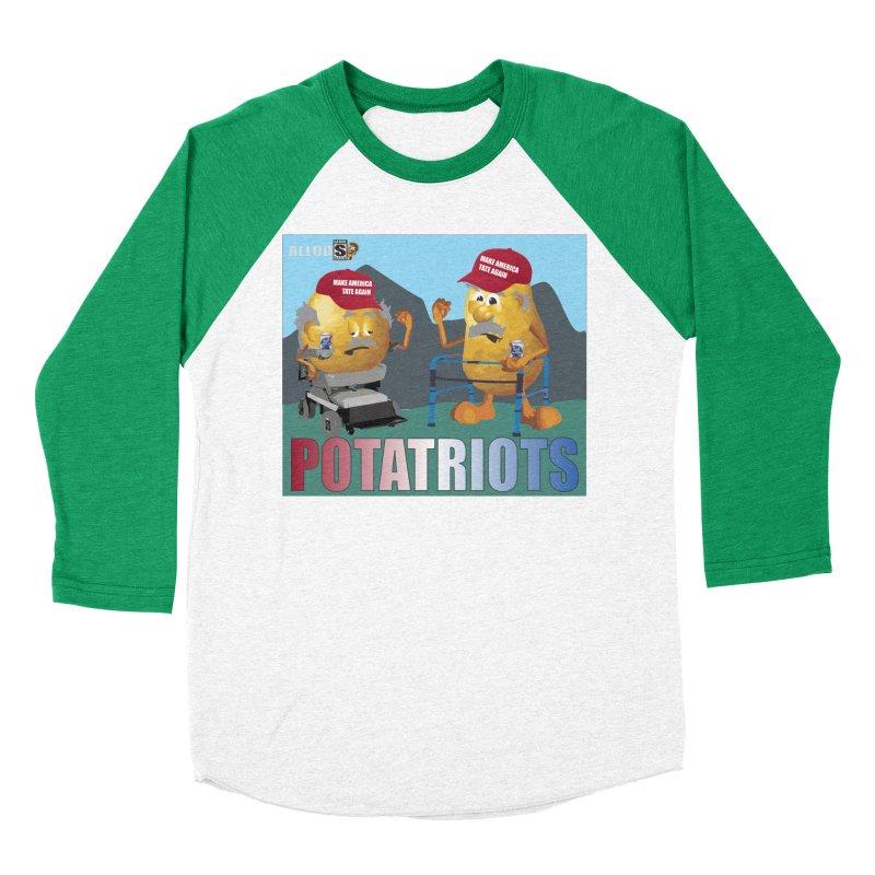 Geriatric Potatriots Men's Baseball Triblend Longsleeve T-Shirt by America's Last Line of Defense