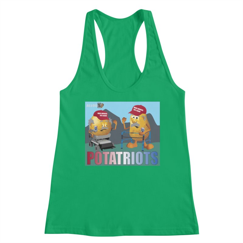 Geriatric Potatriots Women's Tank by America's Last Line of Defense