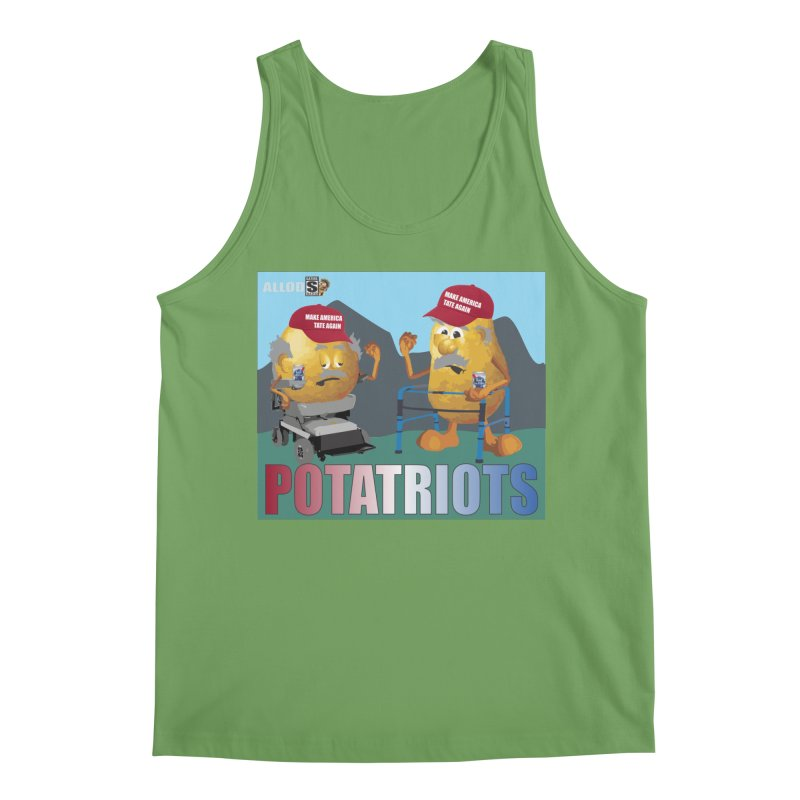 Geriatric Potatriots Men's Tank by America's Last Line of Defense