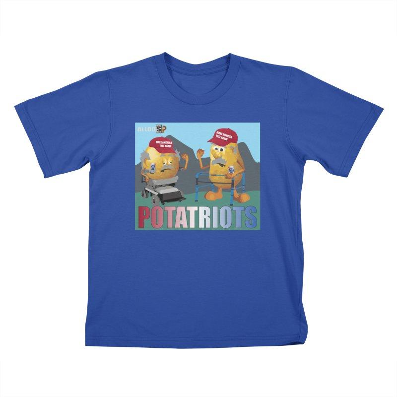 Geriatric Potatriots Kids T-Shirt by America's Last Line of Defense