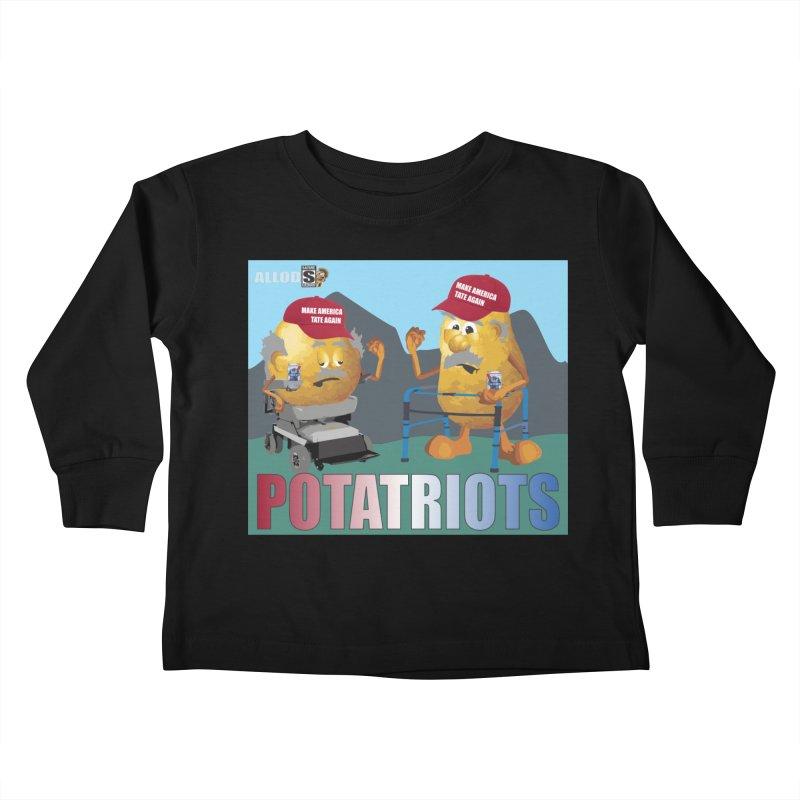 Geriatric Potatriots Kids Toddler Longsleeve T-Shirt by America's Last Line of Defense